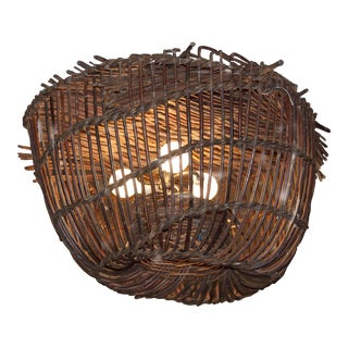Vintage Lobster Basket Chandelier For Sale