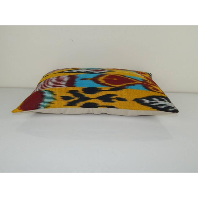 Vintage Ikat Colourful Pillow For Sale - Image 4 of 6