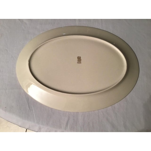 This beautiful Lenox Mayworth large over platter with its beautiful gold trim is in excellent condition and measures...