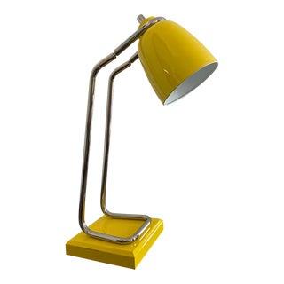 Mid-Century Yellow Adjustable Desk Lamp in the Manner of Robert Sonneman For Sale