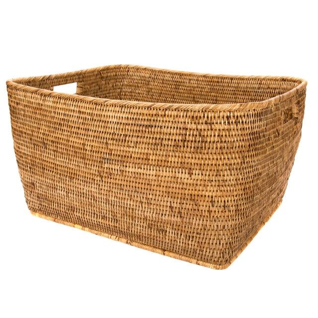 Artifacts Rattan Rectangular Basket For Sale