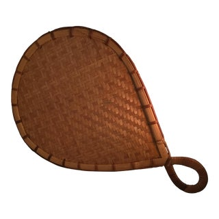 Natural Bamboo Japanese Fan For Sale