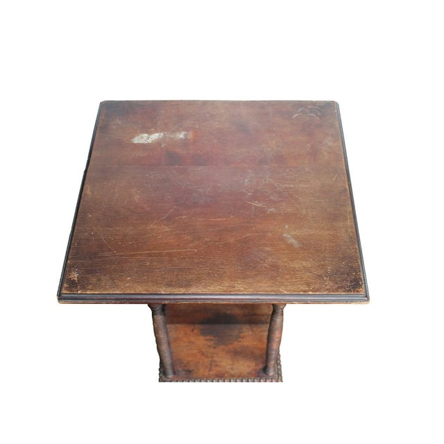 Traditional Antique Spindle Leg Side Table For Sale - Image 3 of 4