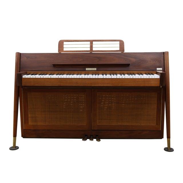 Mid-Century Modern Hidden Piano Bar With Liquor Wine Storage - Baldwin Acrosonic For Sale