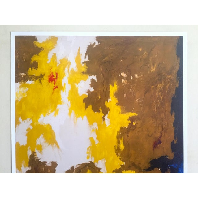 """This Clyfford Still Abstract Expressionist offset lithograph print museum poster """" PH - 321 """" 1948, is a very special..."""