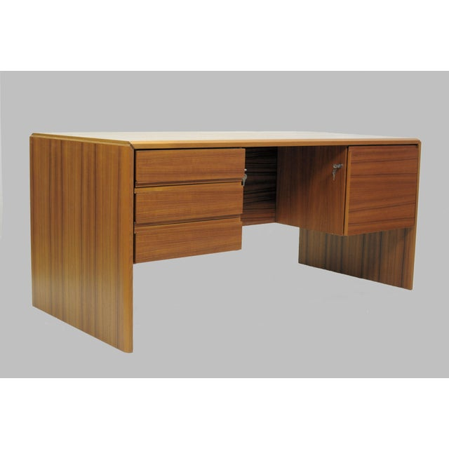 Desk in teak from the 1980s by Bent Silberg. The well made desk has been kept in storage by Bent Silberg since it was...