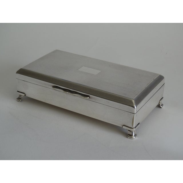 Art Deco English Silver Plate Table Box For Sale In Houston - Image 6 of 9