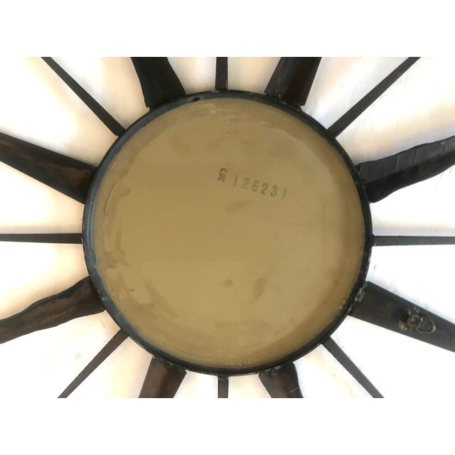 C.1960 French Chaty, Vallauris Rare Black Sunburst Mirror For Sale - Image 12 of 12
