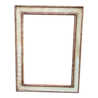 Italian Antique Carved Picture Frame or Mirror Frame For Sale