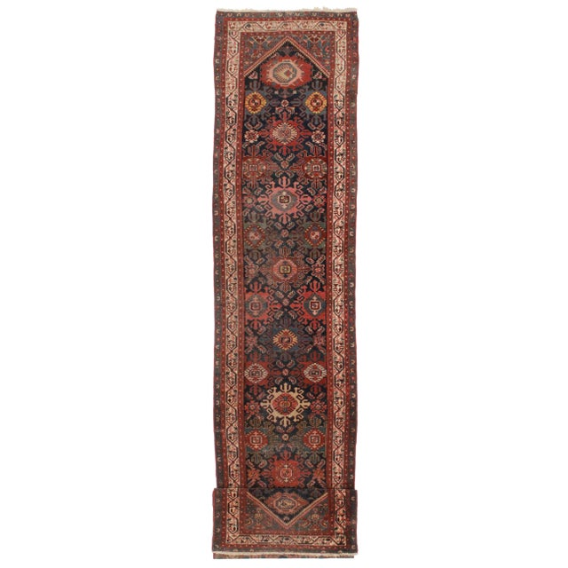 Antique Persian Malayer Runner - 3′ × 20′1″ For Sale