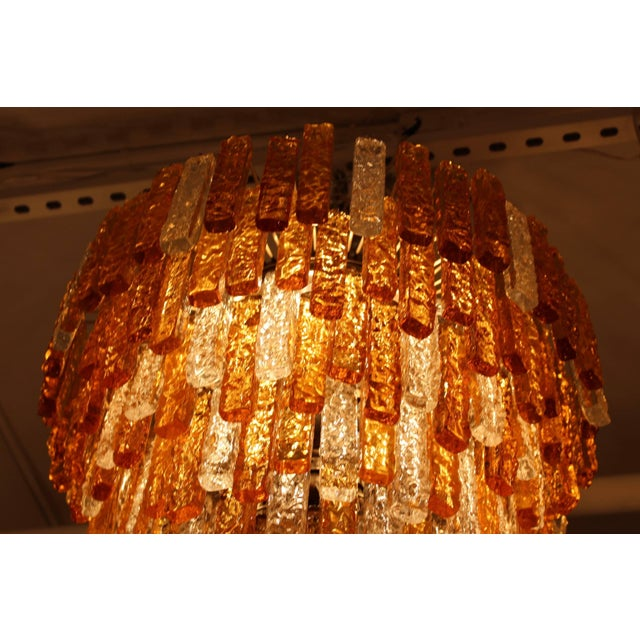 Large 1960s Venini Chandelier For Sale In New York - Image 6 of 10