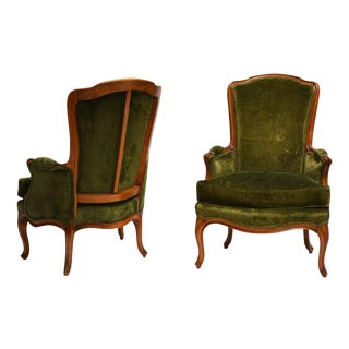 Louis XV Style Bergeres by Maison Jansen - A Pair