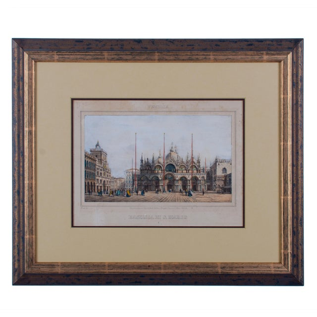 Mid 19th Century Basilica Di San Marco Antique Engraving For Sale - Image 5 of 5
