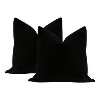 """22"""" Caviar Mohair Velvet Pillows - a Pair For Sale"""