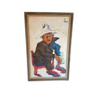 """Vintage """"Old Man of Tajin"""" Impressionist Painting"""