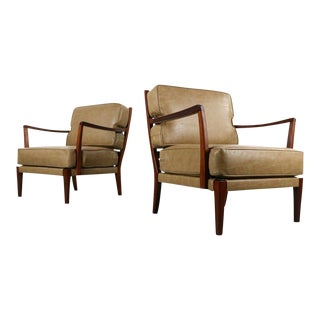 1960s Vintage Arne Norrell Style Lounge Chairs- A Pair For Sale