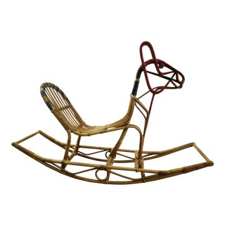 Vintage Mid Century Danish Modern Rocking Horse For Sale