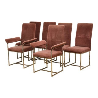 Milo Baughman Style Dining Chairs - Set of 6 For Sale