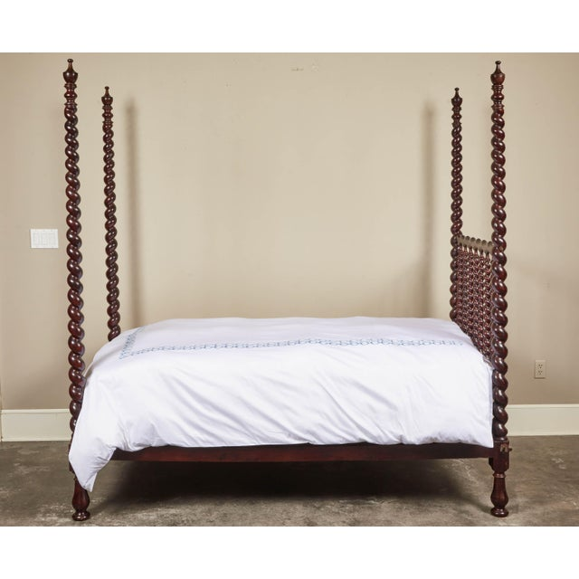 Brown Early 20th C. Spanish Majorcan Walnut Poster Beds - a Pair For Sale - Image 8 of 12