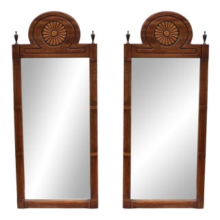Pair of Mid-Century Walnut Mirrors For Sale
