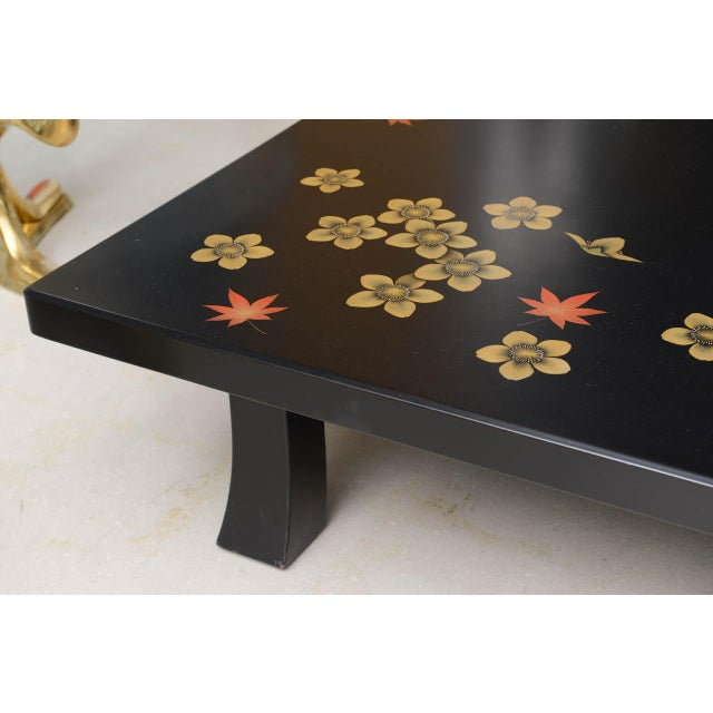 Mid 20th Century Black Asian Style Coffee Table For Sale In West Palm - Image 6 of 7