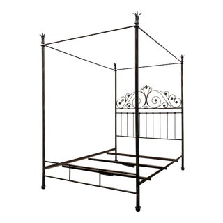 Drexel Heritage European Themes Collection Queen Andalusian Marriage Bed Old Iron Finish For Sale