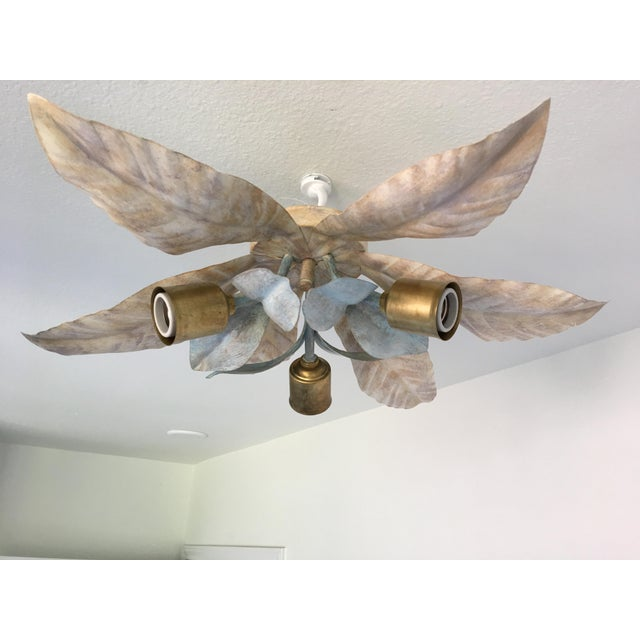 Mid-Century Italian Palm Ceiling Light - Image 8 of 9