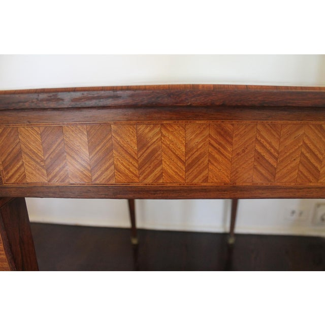 French Transitional Parquetry Inlaid Writing Desk For Sale - Image 11 of 13