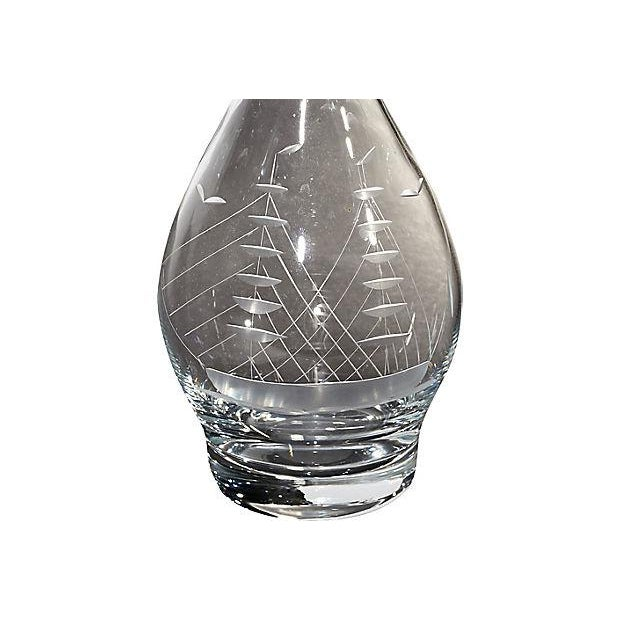 1960s Ship Etched Decanter Set, 6 Pieces For Sale In Boston - Image 6 of 8