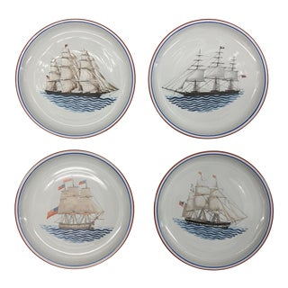 Vintage Mottahedeh Clipper Ship Maritime Museum Plates - Set of 4 For Sale
