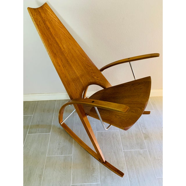 Mid Century Modern Leon Meyer Sculptural Rocking Chair For Sale - Image 10 of 13