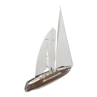 Eye Catching Lucite Sailboat Sculpture For Sale