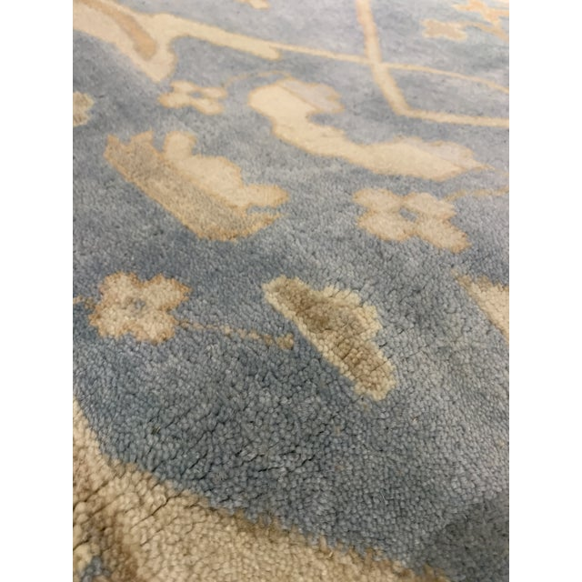 Islamic Pasargad N Y Oushak Wool Rug - 8′8″ × 9′9″ For Sale - Image 3 of 8