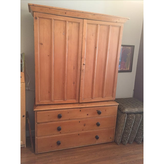 Vintage Turn of the Century American Linen Press - Image 2 of 6