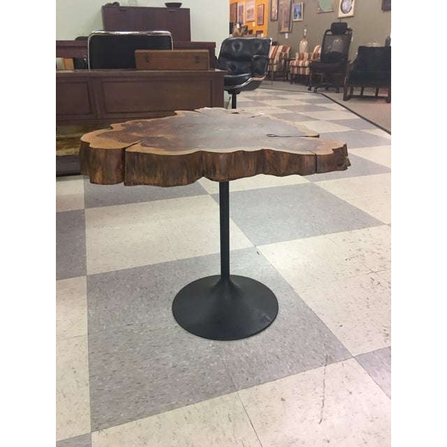 Live Edge Table on Tulip Base - Image 2 of 5
