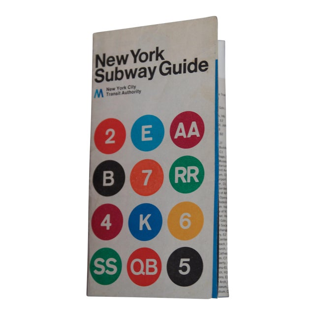 New York Subway Map For Sale.1974 Massimo Vignelli Subway Map