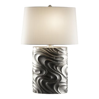 Oval Fei Tian Wen Lamp - Silver Plate For Sale