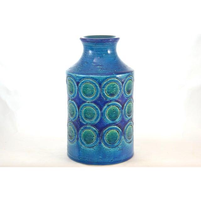 Bitossi Bitossi Mid-Century Blue Vase For Sale - Image 4 of 4