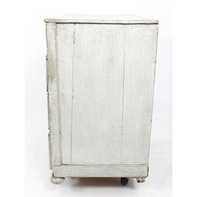 Wood 1890s Painted French Commode For Sale - Image 7 of 8