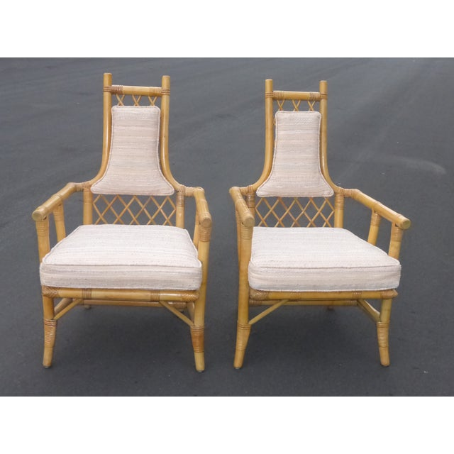 Vintage Mid Century Bamboo Chairs - A Pair - Image 2 of 10