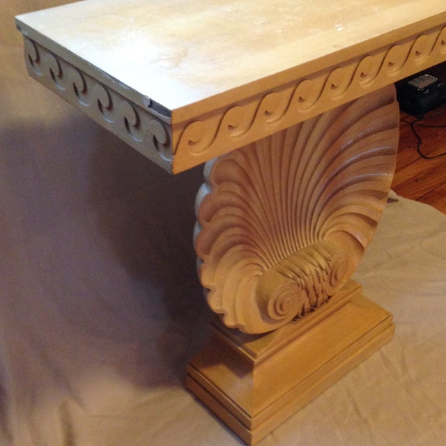 Dunbar Furniture Edward Wormley for Dunbar Shell Console Table For Sale - Image 4 of 7