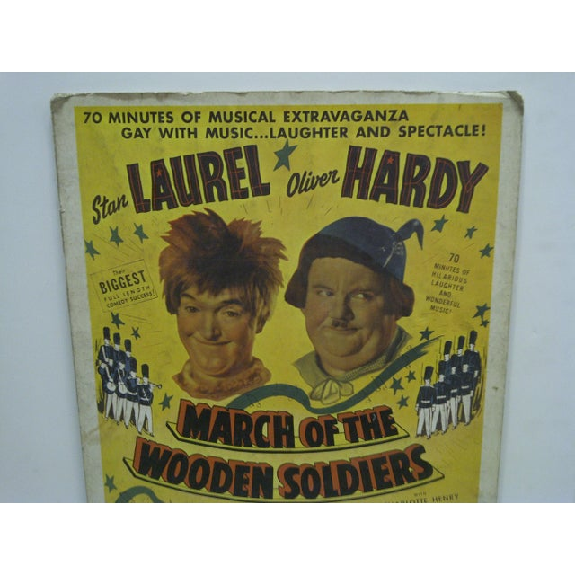 "Americana Laurel & Hardy ""March of the Wooden Soldiers"" Movie Poster For Sale - Image 3 of 4"