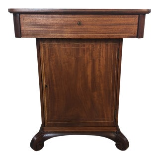 Vintage Mahogany Smoking Humidor Stand For Sale