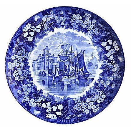 Antique Wedgwood Ferrara Ship Wall Charger For Sale