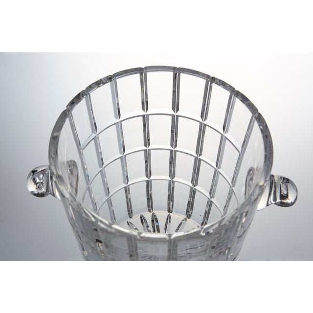 Transparent French Cut Crystal Wine Cooler or Champagne Ice Bucket With Handles, Circa 1960s For Sale - Image 8 of 9