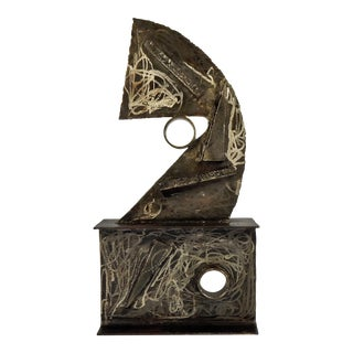 Abstract Steel Sculpture For Sale