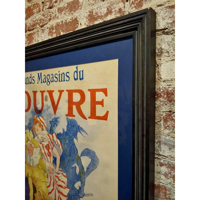 Grands Magasins Du Louvre -Original 1897 French Poster by Jules Cheret For Sale - Image 10 of 11