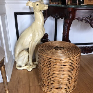 1970s Vintage Bamboo Reed Handwoven Basket Preview
