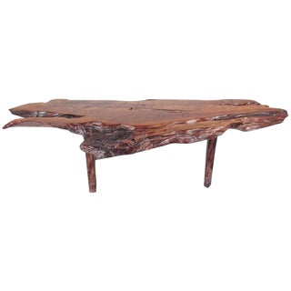 Vintage Modern Free Edge Coffee Table For Sale