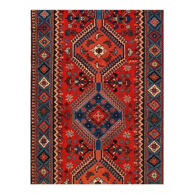 Persian Pasargad Red Persian Yalameh Runner- 2′8″ × 12′ For Sale - Image 3 of 4